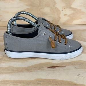 Sperry Top Sider Seascoast Canvas Gray Boat Shoes